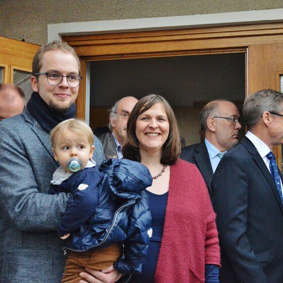 Familie Habeck wurde in ihrer neuen Gemeinde begrüßt