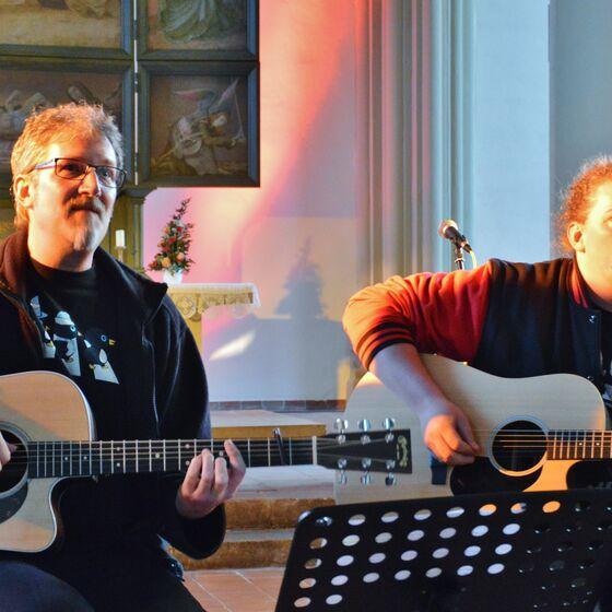 Martin und Jeremias Hampe traten als Duo auf
