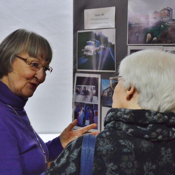 Die Ausstellung lud zum Austausch von Erinnerungen ein