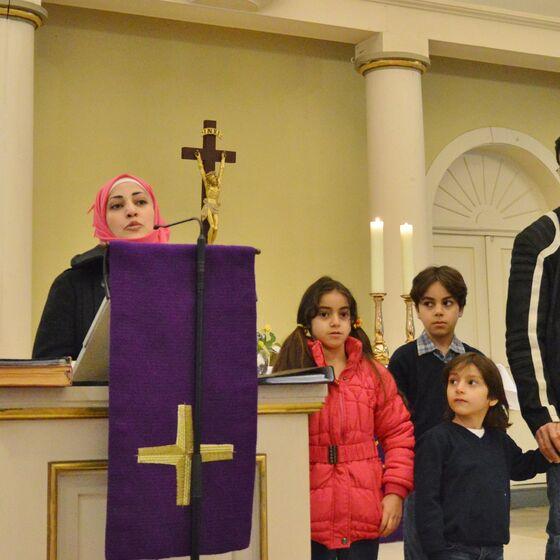Neshim Darwich und ihre Familie dankten für viele helfende Hände hier in Deutschland