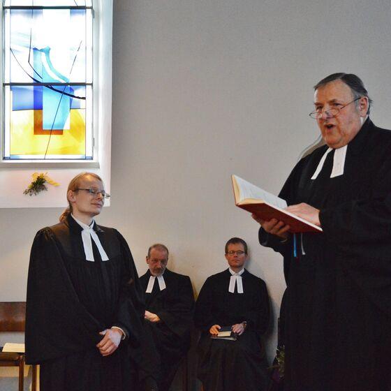 Am Sonntag wurde Pastor Till Engelmann der Gemeinde in Wulften vorgestellt