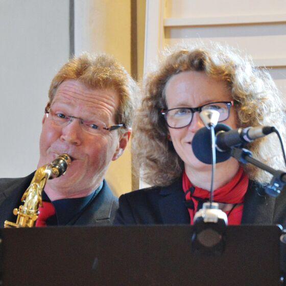 Anja und Uwe Klußmann sorgten für den musikalischen Rahmen