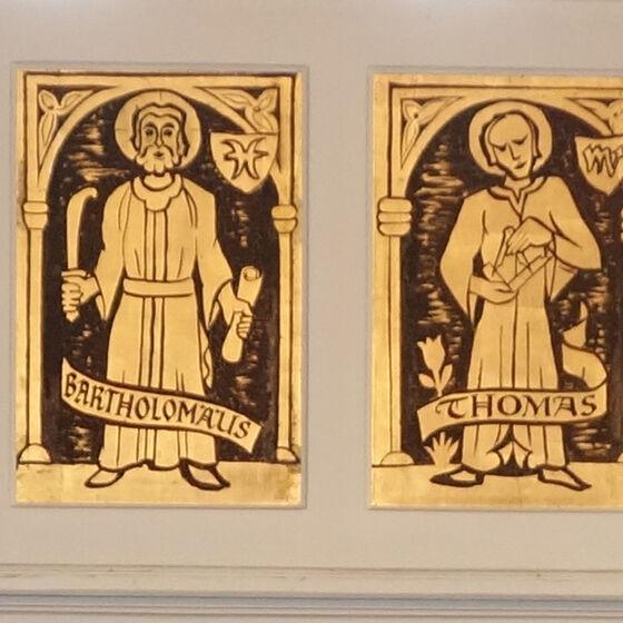 Kirchenapostel in der Benther Kirche