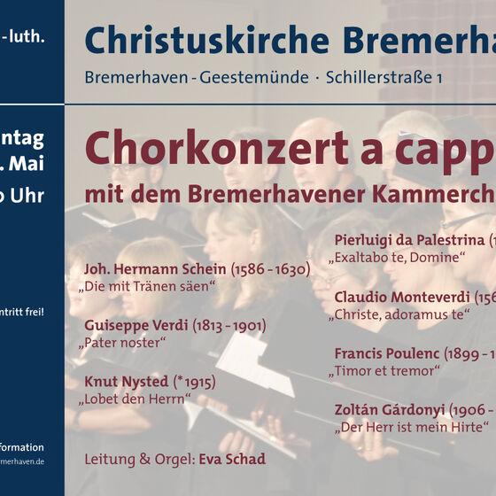 Plakat Kammerchor 2013