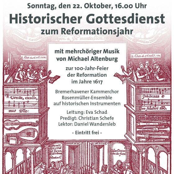 Plakat Reformationsgottesdienst 2017