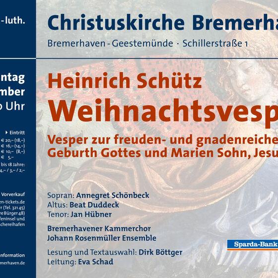 Plakat Schütz-Vesper 2013