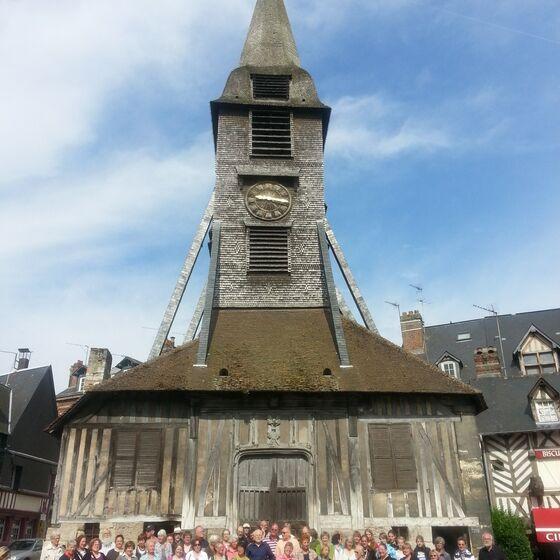 Frankreich 7.2013 Honfleur-Holzkirche