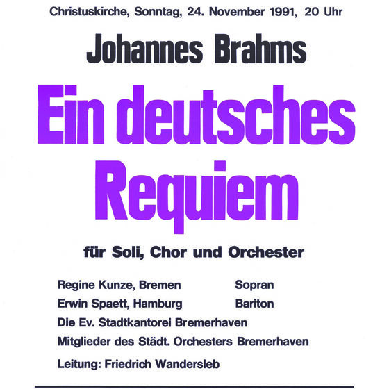 Plakat Deutsches Requiem 1991