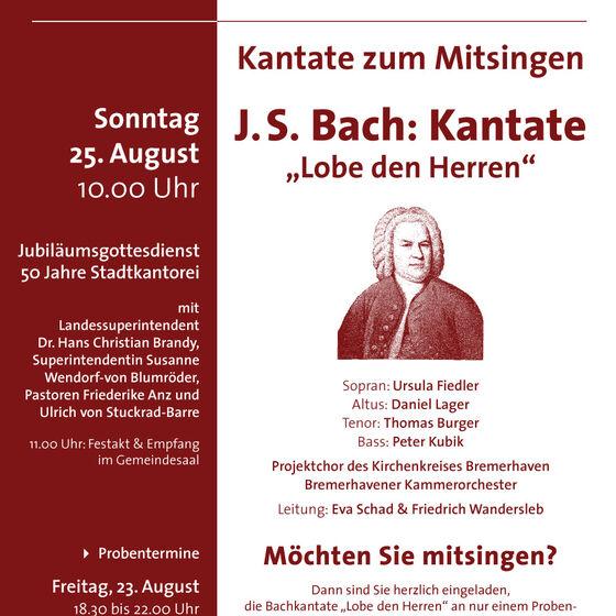 Plakat Kantate zum Mitsingen 2013
