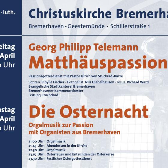 Plakat Karfreitag bis Ostern 2010