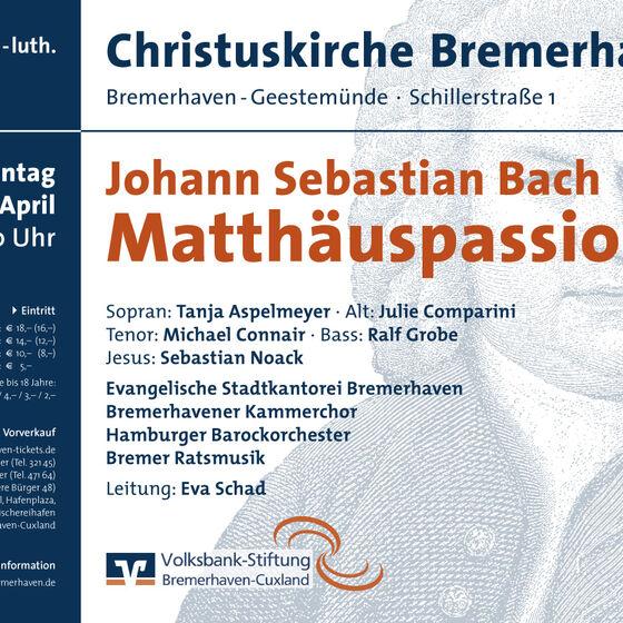 Plakat Matthaeuspassion 2011
