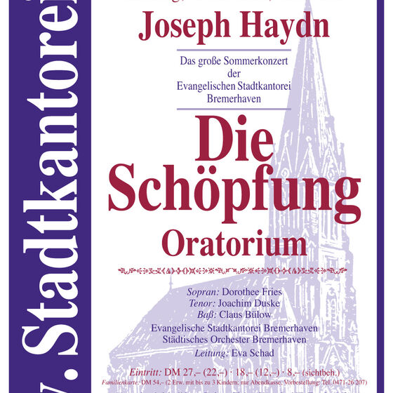Plakat Schoepfung 2000