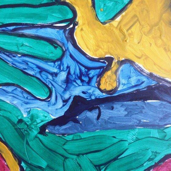 abstrakt türkis