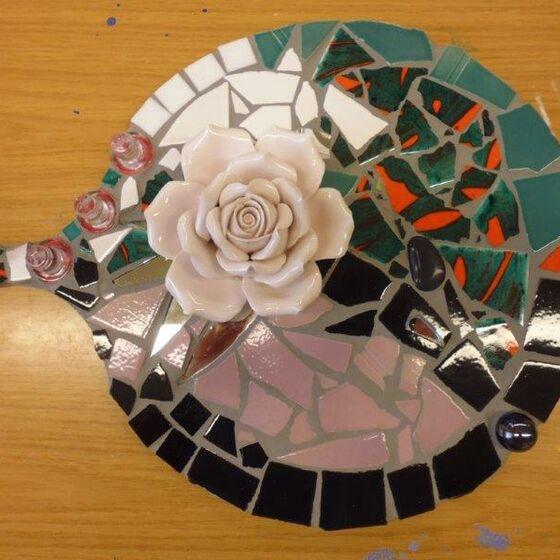 mosaik rundes brett