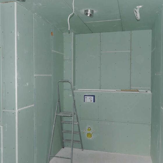 Toilette Rohbau
