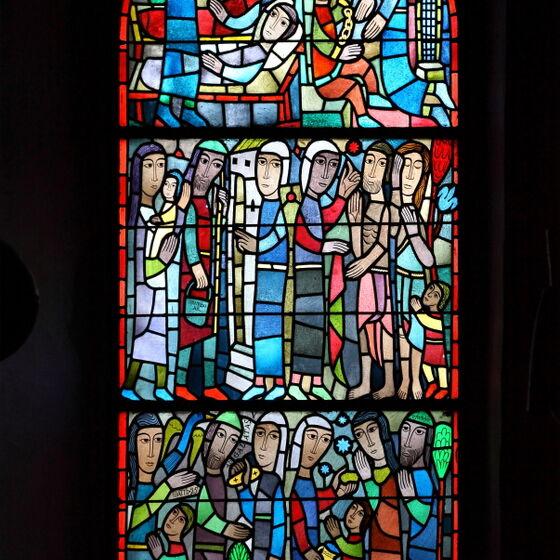 Fenster Werke der Barmherzigkeit St-Annen Wolfsburg