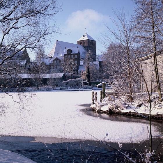 Wilhadiblick vom Holzhafen - im Winter