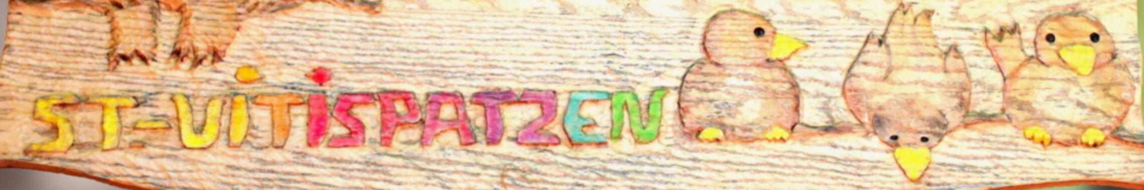Kopfgrafik Schild mit Spatzen wbo