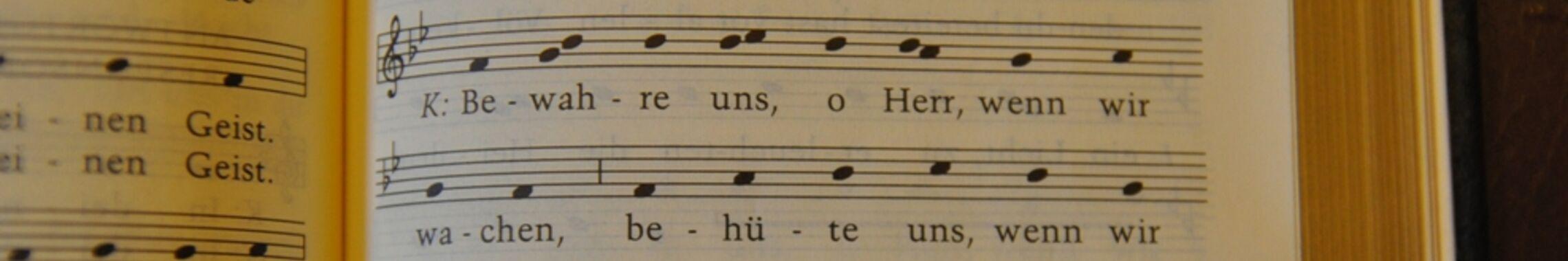 Gesangbuchausschnitt