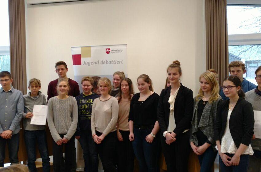 Teilnehmer Jugend debattiert