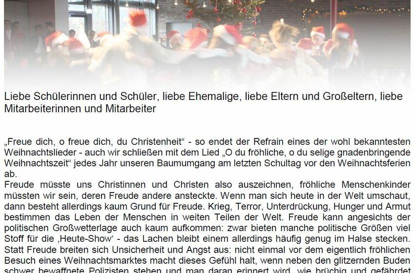 Weihnachtsbrief 2017