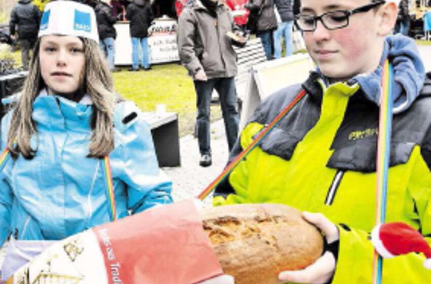 Brotbackaktion der Konfirmanden