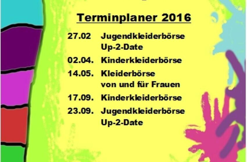 Termine Kleiderbörsen Bingum - Frühjahr 2016