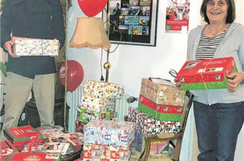 Weihnachten im Schuhkarton - Bild aus der ON Aurich v. 19.11.2020