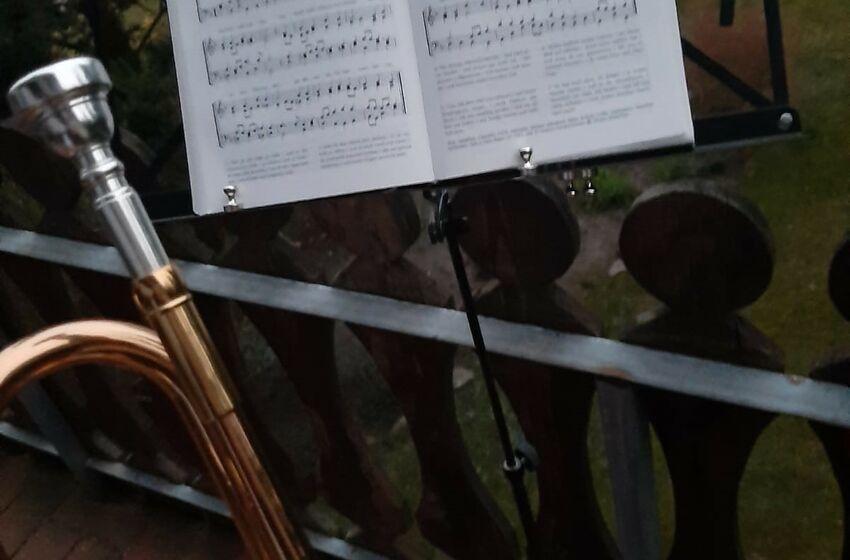 Trompete mit Noten