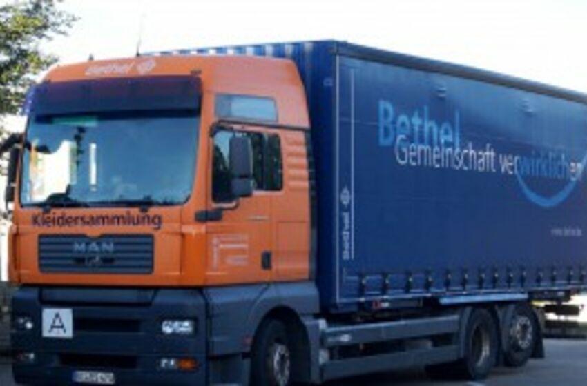 Lastwagen der Brockensammlung Bethel
