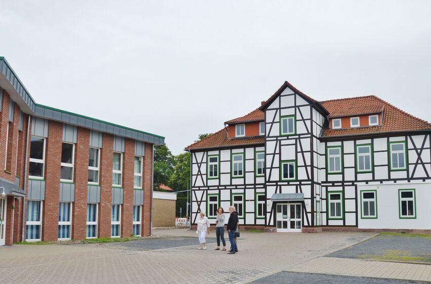 Architektonisch sind die Gebäude des Kirchenkreisamtes völlig unterschiedlich