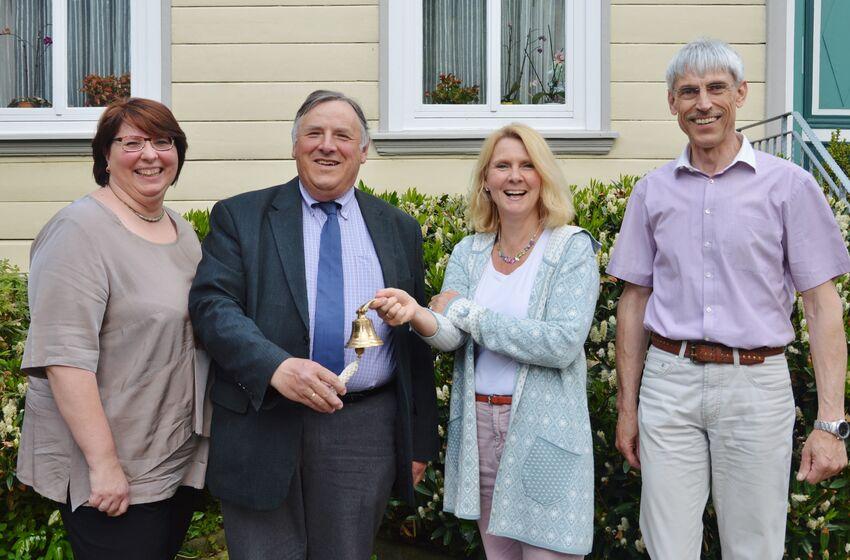 Christa Eulert, Volkmar Keil, Stephanie von Lingen und Karl-Heinz Himstedt läuten eine neue Ära ein