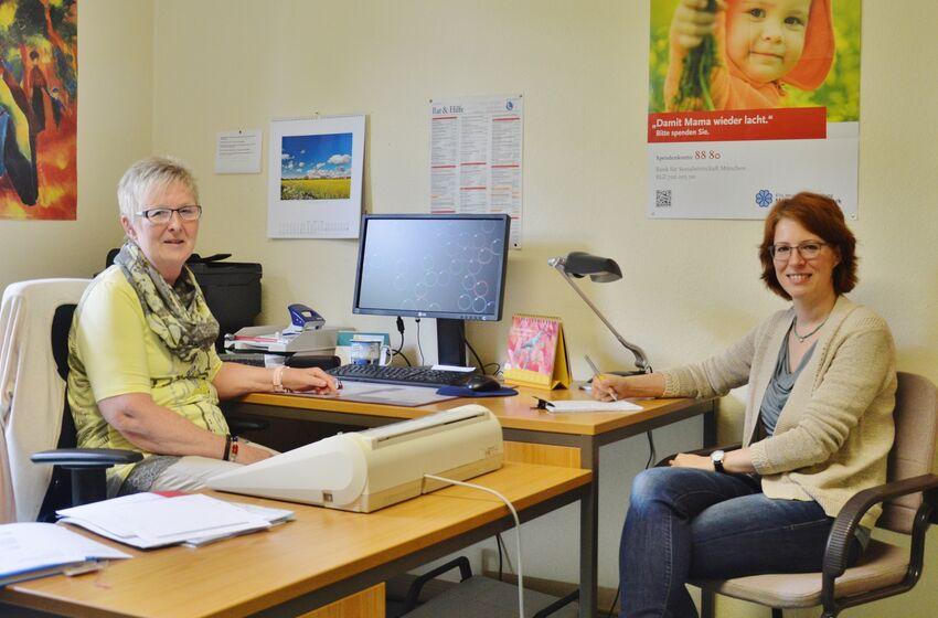Gabriele Fricke und Susanne Mende helfen in vielen Lebenslagen