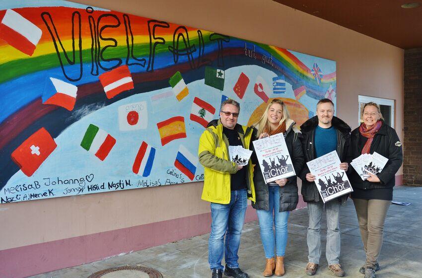 Burkhard Brömme, Dana Pruss, André Wenauer und Silke Mursal-Dicty freuen sich auf interessierte Sänger