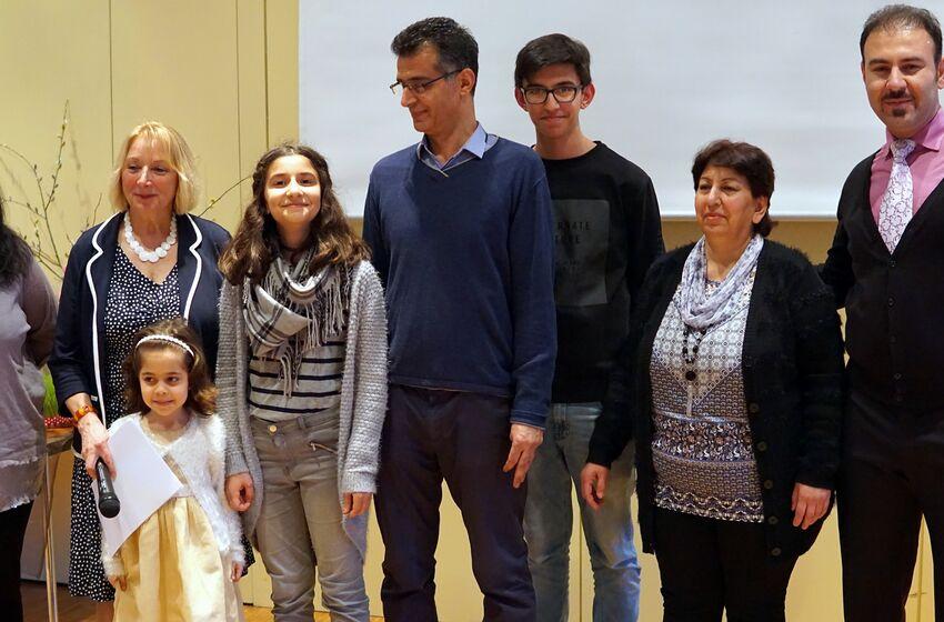 Familie Sadar mit Karin Hesse-Lehmann