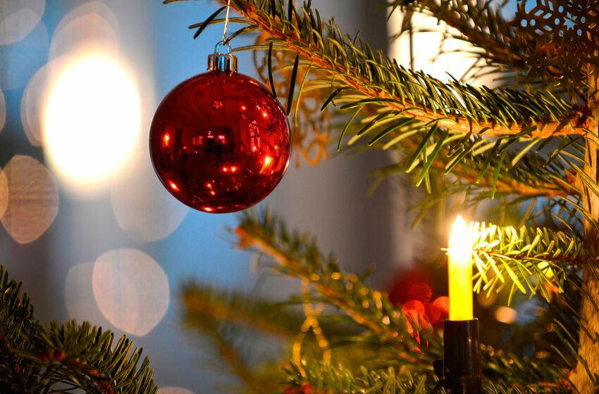 Christbaumkugel am Weihnachtsbaum - Foto: Jens Schulze