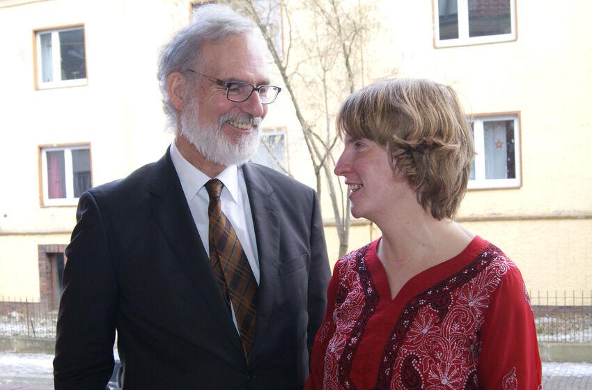 Pastor Ewert und Jessica Schröder