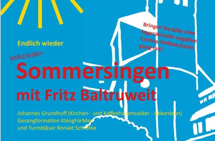 Plakat Sommersingen