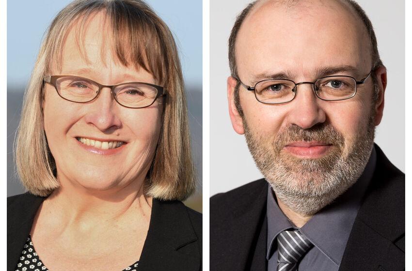 Christiane Nadjé-Wirth und Kay Oppermann bewerben sich um das Amt der Superintendentin oder des Superintendenten im Kirchenkreis Holzminden-Bodenwerder.