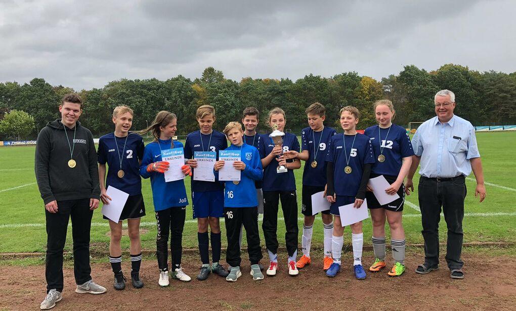 Siegermannschaft KonfiCup 2019 Buxtehude St. Paulus