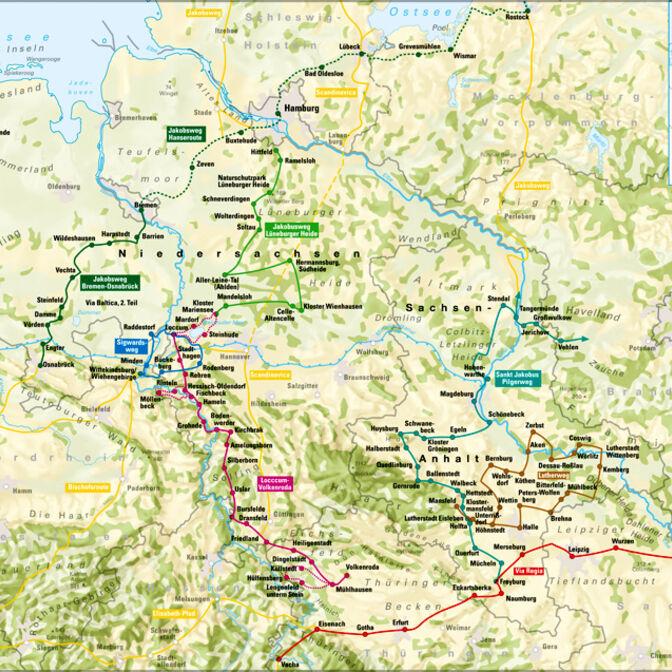 Pilgerwege Niedersachsen und Sachsen-Anhalt