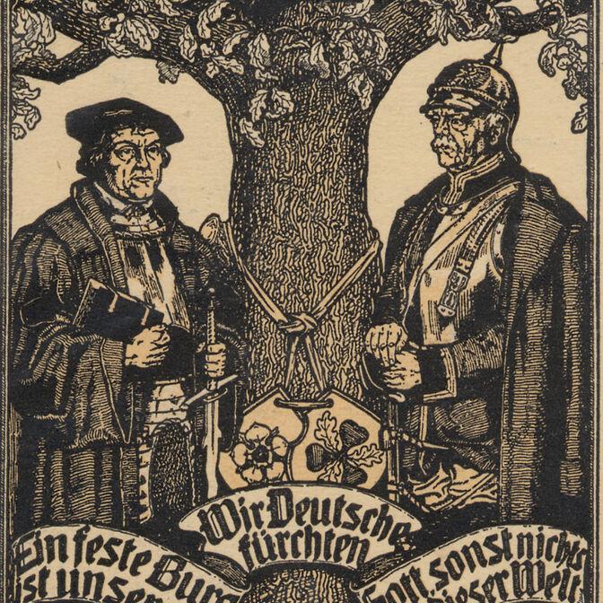 Luther und Bismarck Postkarte Sammlung Otto May