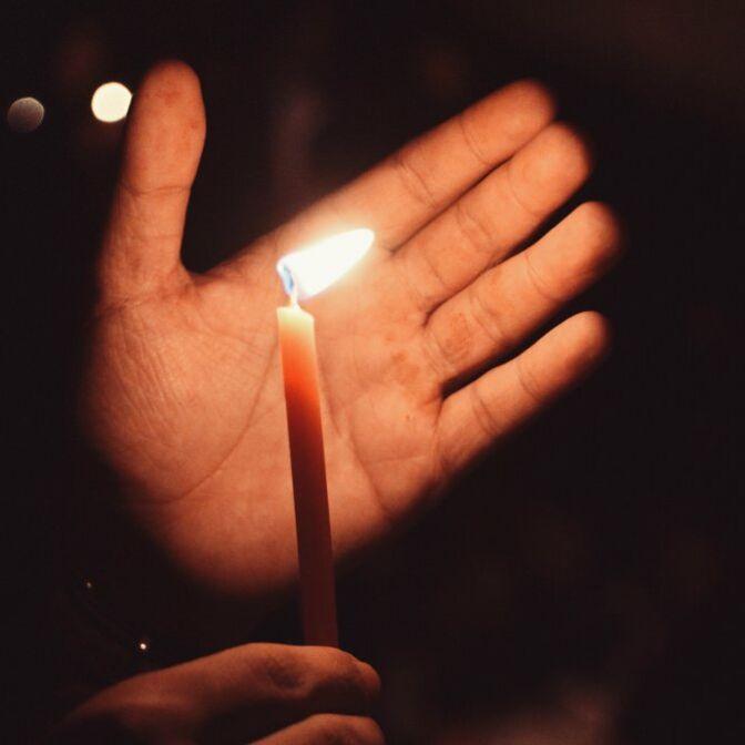 Beerdigung Kerze