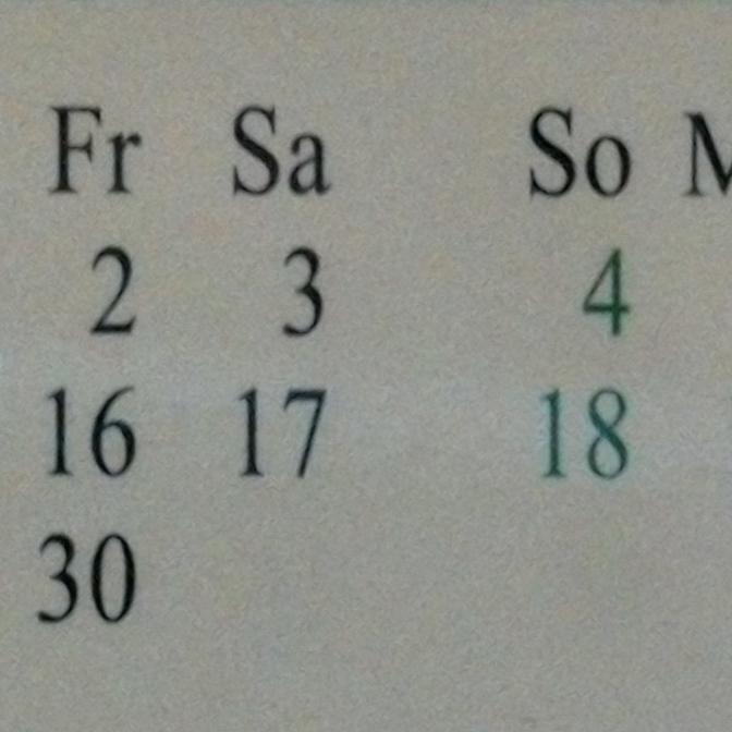 kalender Bild slider