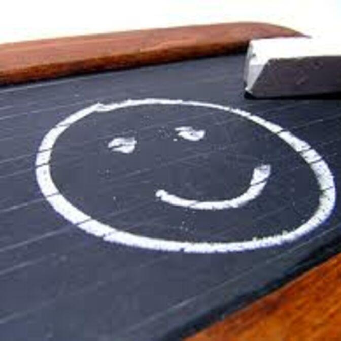 Smiley auf Tafel