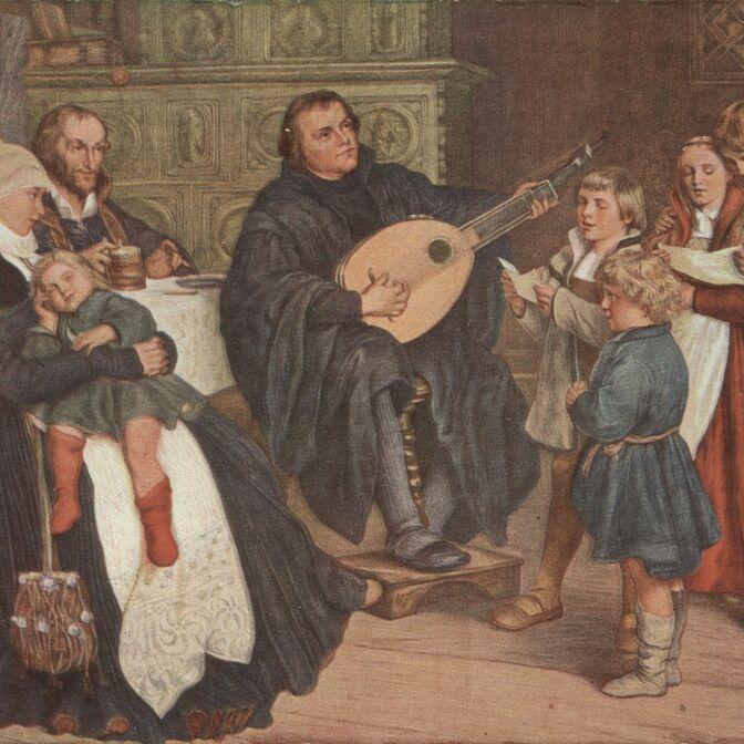 Luthers Familie beim Musizieren