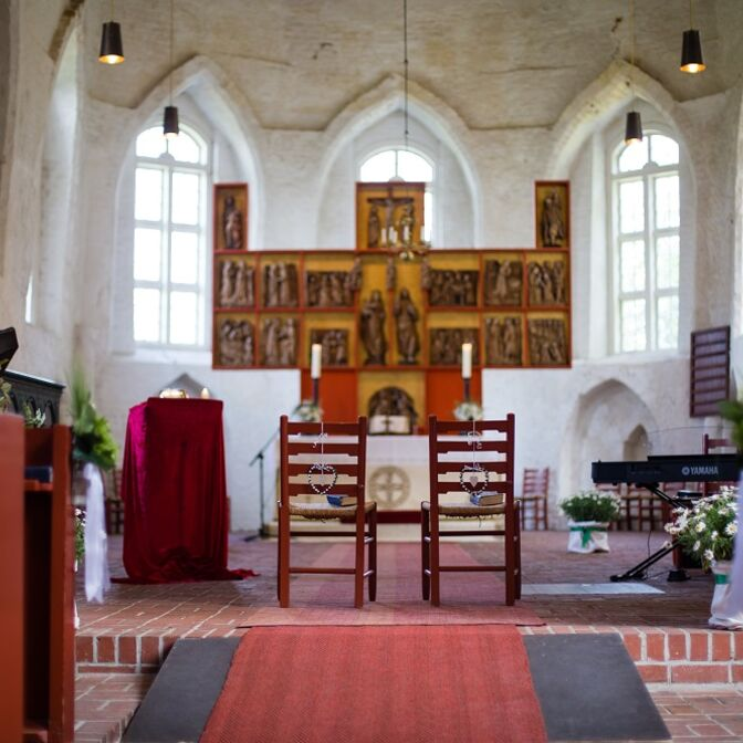 Trauung Blick zum Altar