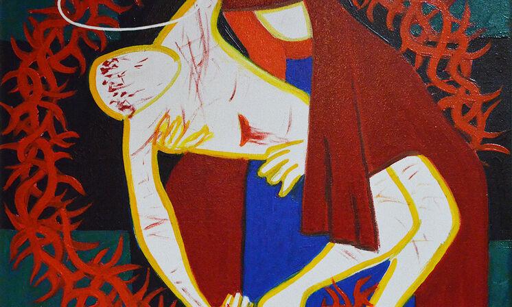 Kreuzweg 13 Jesu Leichnam im Schoss seiner Mutter
