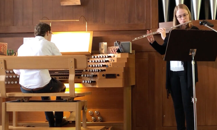 Floete und Orgel
