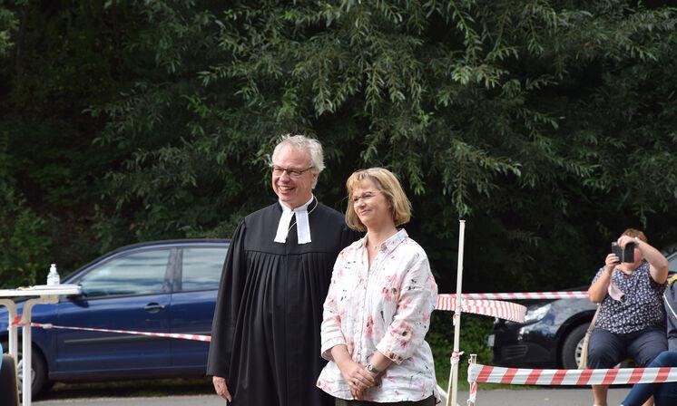 Pastor Jens-Arne Edelmann mit Ehefrau Claudia
